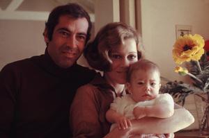 Jane Fonda, Roger Vadim, and daughter Vanessa 1969 © 1978 Bruce McBroom - Image 0968_1085