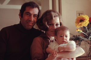 Jane Fonda, Roger Vadim, and daughter Vanessa 1969 © 1978 Bruce McBroom - Image 0968_1085
