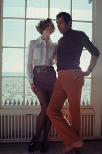 Jane Fonda with husband Roger Vadim 1969 © 1978 Bruce McBroom - Image 0968_1091