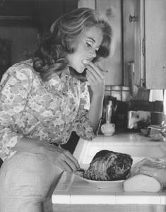 Jane Fondaat home1966 © 1978 Gene Trindl - Image 0968_1112