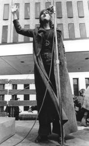 Jane Fonda at a Protest in Denver April 24, 1970, Photo By United Press International  **I.V. - Image 0968_1135