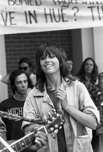 Jane Fonda at an anti-war rallycirca 1973 © 1978 Gunther - Image 0968_1154