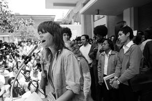 Jane Fonda at an anti-war rallycirca 1973 © 1978 Gunther - Image 0968_1157
