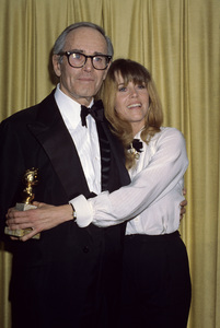 "Jane Fonda and father Henry at ""The 43rd Annual Golden Globe Awards""1986 © 1986 Gary Lewis - Image 0968_1173"
