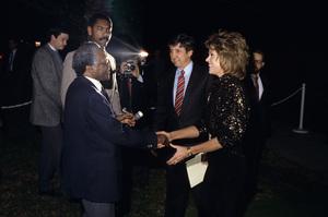 Jane Fonda, Desmond Tutu and Tom Haydencirca 1980s © 1980 Gary Lewis - Image 0968_1178