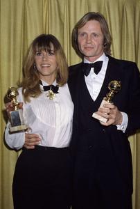 "Jane Fonda and Jon Voight at ""The 43rd Annual Golden Globe Awards""1986 © 1986 Gary Lewis - Image 0968_1192"