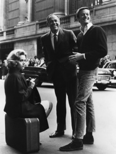 """Jane Fonda with father Henry and brother Peter on the set of """"Sunday in New York""""1963** I.V. - Image 0968_1204"""
