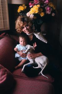 Jane Fonda at home in Malibu, California with her daughter Vanessa Vadim 1969 © 1978 Bob Willoughby - Image 0968_1251