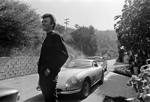 Clint Eastwood with his Ferrari 275 GTB 1965 © 1978 Gunther - Image 0973_0815