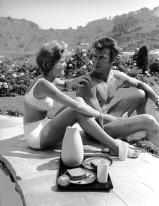 Clint Eastwood and wife Maggie Johnson at home1961 © 2005 Michael Levin - Image 0973_0850