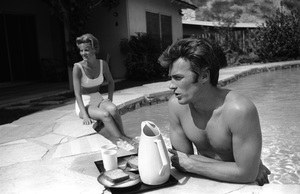 Clint Eastwood and wife Maggie Johnson at home1961 © 2005 Michael Levin - Image 0973_0851