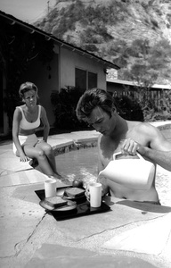 Clint Eastwood and wife Maggie Johnson at home1961 © 2005 Michael Levin - Image 0973_0852
