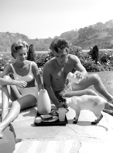 Clint Eastwood and wife Maggie Johnson at home1961 © 2005 Michael Levin - Image 0973_0855