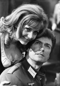"""Clint Eastwood and Ingrid Pitt on the set of """"Where Eagles Dare""""1968** J.C.C. - Image 0973_0900"""