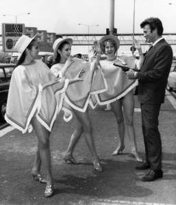 Clint Eastwood in London with glamour girls1967** J.C.C. - Image 0973_0902
