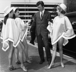 Clint Eastwood in London with glamour girls1967** J.C.C. - Image 0973_0903