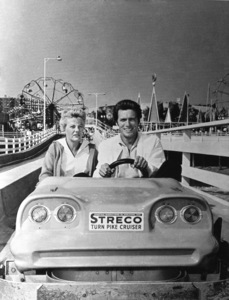 Clint Eastwood and wife Maggie at Pacific Ocean Park (aka P.O.P.)circa 1960s** J.C.C. - Image 0973_0904