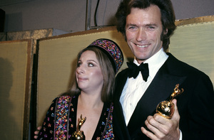 "Clint Eastwood and Barbra Streisand at ""The Golden Globe Awards""1971© 1978 Gary Lewis - Image 0973_0911"