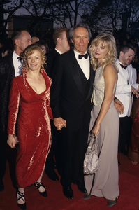 "Clint Eastwood with Frances Fisher and Alison Eastwood at ""The 66th Annual Academy Awards""1994© 1994 Gary Lewis - Image 0973_0927"