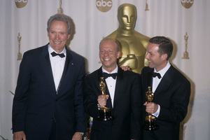 """Clint Eastwood with Bruce Cohen and Dan Jinks at """"The Academy Awards""""2000© 2000 Gary Lewis - Image 0973_0932"""