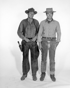 "Eric Fleming and Clint Eastwood in ""Rawhide""circa 1960s** I.V. / M.T. - Image 0973_0942"