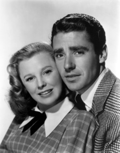 """June Allyson and Peter Lawford publicity still for """"Good News""""1947 MGM - Image 0983_0142"""