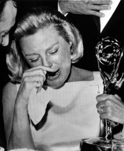 June Allyson with posthumous Emmy for Dick Powell1963** I.V. - Image 0983_0160
