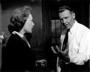 Ralph Bellamy acting with woman on stagec. 1950Copyright John Swope Trust / MPTV - Image 0993_0028