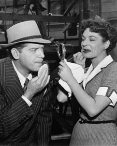 """Milton Berle and Ruth Roman on theset of """"Always Leave Them Laughing,"""" 1949. - Image 0996_0008"""