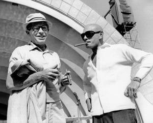 Milton Berle & Yul Brynner atHollywood Bowl, c. 1962. © 1978 Marv Newton - Image 0996_0019