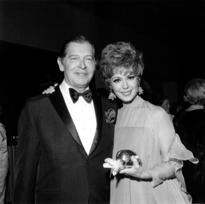 Milton Berle and Barbara Rush circa 1962 © 1978 Gunther - Image 0996_0121