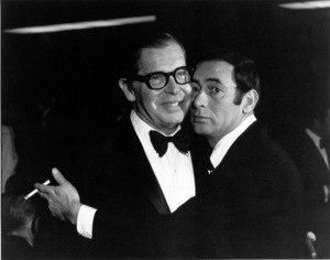 Milton Berle & Joey Bishop at Academy Of TV & Sciences Party, 1968. © 1978 Gunther - Image 0996_0124