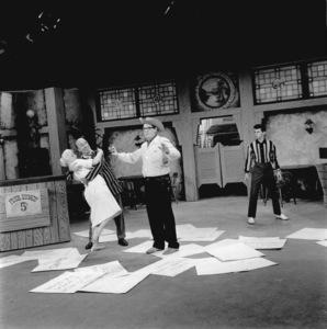 Milton Berle with Ed Wynn and Frankie Avalon circa 1959 © 1978 Sid Avery - Image 0996_0136