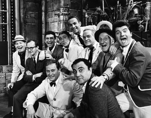 Milton Berle, Wally Cox, Soupy Sales, Dick Martin, Jack Carter, Bob Hope, Jimmy Durante, Dick Shawn, Dan Rowan and Bill Danacirca 1966Photo by Gerald Smith - Image 0996_0158