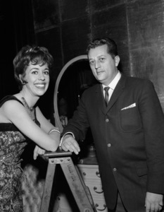 """Carol Burnett with photographer, Roy Cummings, on the set of, """"The Twilight Zone"""" (Episode: Cavender Is Coming)1962© 1978 Roy Cummings - Image 1000_0193"""