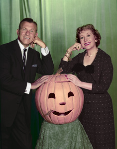 George Burns and Gracie Allen circa 1955 Photo by Gabi Rona - Image 1001_0012