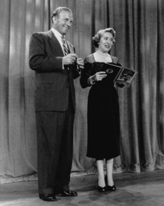 """George Burns and Gracie Allen on stageof """"The George Burns and Gracie Allen Show,""""1951/CBS.Photo by Gabi Rona - Image 1001_0027"""