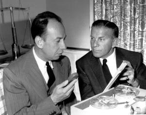 George Burns and Jose Ferrer, c. 1956.Photo by Gabi Rona - Image 1001_0028