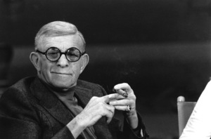 "George Burns, on the ""Dinah""talk show, c. 1976.Photo by Gabi Rona - Image 1001_0622"