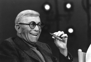 "George Burns, on the ""Dinah"" talk show, c. 1976.Photo by Gabi Rona - Image 1001_0623"