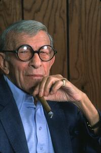 George Burns, October 1990. © 1990 Gene Trindl - Image 1001_0656
