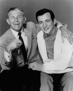 """"""" The George Burns show,""""George Burns with guest Bobby Darin.c. 1958. - Image 1001_0664"""