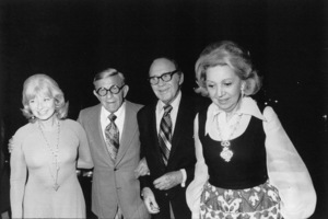 George Burns with Jack Benny, c. 1973. © 1978 Gunther - Image 1001_0676