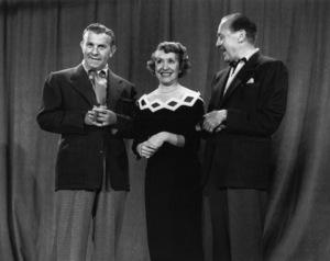 """The George Burns and Gracie Allen Show""George Burns, Gracie Allen, Jack Benny1950Photo by Gabi Rona - Image 1001_0685"