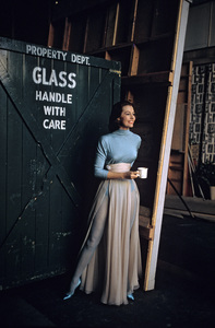 """Cyd Charisse behind the scenes on """"Silk Stockings""""1957 © 2001 Mark Shaw - Image 1003_0065"""