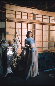 "Cyd Charisse behind the scenes of ""Silk Stockings"" 1957 © 2001 Mark Shaw - Image 1003_0067"