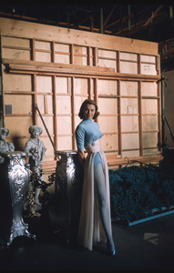 "Cyd Charisse behind the scenes of ""Silk Stockings"" 1957 © 2001 Mark Shaw - Image 1003_0068"