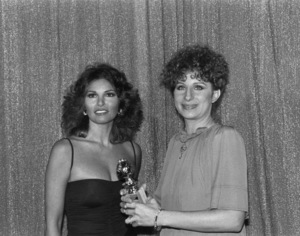"""Golden Globe Awards""Raquel Welch, Barbra Streisand1977Photo by Gabi Rona - Image 10096_0010"