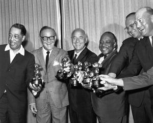 """Disneyland Big Band Festival""Duke Ellington, Benny Goodman, Wayne King, Count Basie, Lloyd Elliott, Bill Elliott1964 © 1978 Bud Gray - Image 10116_0001"