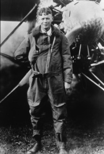 "Charles Lindbergh with the ""Spirit of St. Louis""1927 - Image 10186_0001"